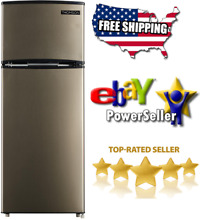 Thomson 7 5 cu  ft  Top Freezer Refrigerator  TFR725   NEW