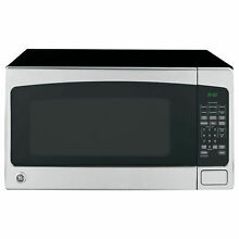 GE 2 0 Cubic Foot Countertop Microwave Oven  Silver  Certified Refurbished