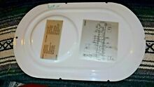 Splendide WD2100XC WASHER DRYER COMBO REAR COVER PANEL W  SCHEMATIC