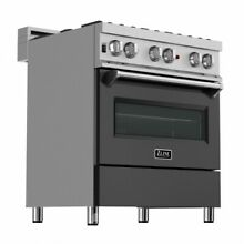 ZLINE 30  DUAL FUEL RANGE OVEN GAS ELECTRIC STAINLESS BLACK DOOR RAS BLM 30
