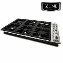ZLINE 36  Dropin Cooktop with 6 Gas Burners STAINLESS STEEL KITCHEN  RC36 PBT