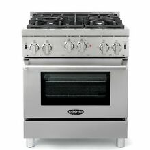 Commercial Style 30 In  3 9 Cu  Ft  Gas Range with 4 Italian Burners  In