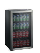 Cooler Galanz 110 Can Beverage Center Stainless Door Frame Compact Glass