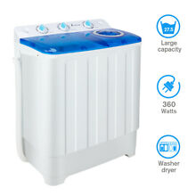 Electric Portable Washing Machine 16 5lb Laundry Washer Spin Twin Tub Washer New