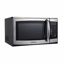 Farberware 0 9 Cu Ft Microwave Oven  Stainless Steel Black