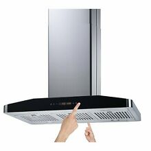 Winflo 30  Convertible Stainless Steel 750 CFM 5 Speed Island Range Hood with 2