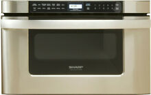 Sharp KB6524P 24 Inch Wide 1 2 Cu  Ft  Drawer Microwave with Auto Defrost
