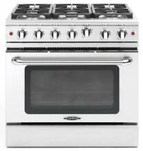 Capital GCR366 36 Inch Pro Style Gas Range Natural Gas 4 6 cu ft Convection Oven