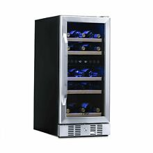 NewAir Dual Zone Built In Wine Cooler and Refrigerator  29 Bottle Capacity Fr