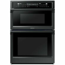 Samsung NQ70M6650DG 30  Black Stainless Double Wall Oven Convection Microwave
