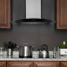 AKDY RH0290 30  Stainless Steel Wall Mount Range Hood with Gas Sensor Remote