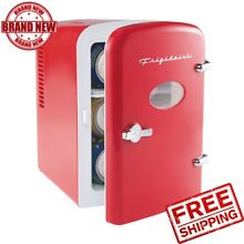 Frigidaire Portable Retro 6 cans or 4 liters Mini Fridge EFMIS129  Red