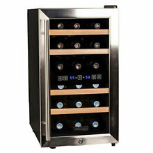 Koldfront 7 Series 14 Inch 18 Bottle Free Standing Dual Zone Cooling Wine Cooler
