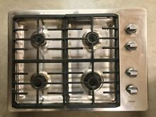 Maytag 4 burner gas cooktop  reclaimed building materials  good clean condition