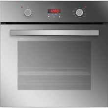 Empava 24  Tempered Glass Built in Single Wall Oven Silver 24 Inches