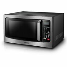 Toshiba 1 5 Cubic Foot Stainless Steel Convection Microwave Silver