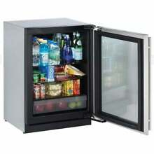 Glass Refrigerator 24  Reversible Hinge Stainless 115v Clear