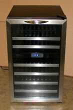 Danby 38 Bottle Dual Zone 20  LED Wine Cooler Chiller Cellar Stainless DWC286BLS
