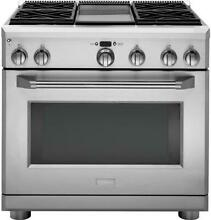 Monogram ZDP364NDPSS 36  Dual Fuel Professional Range with 4 Burners and Griddle