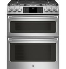GE CGS995SELSS Caf  Series 30  Slide In Front Control Gas Double Oven