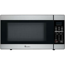 Countertop Microwave Oven in Stainless Steel  1 8 Cu  Ft  1100W