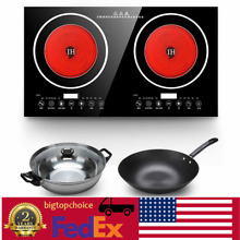2400W Electric Dual Digital Induction Cook Cooktop Countertop Burner Cooker US