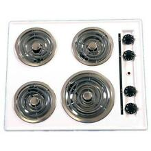 Brown WEL03 24in Electric Cooktop Coil Top   White