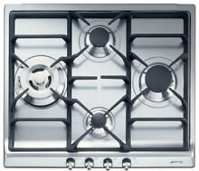 Smeg Classic Design SR60GHU3 24 Inch Gas Cooktop with 4 Sealed Burners