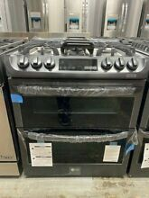 LG LTG4715BD 30  Smart Double Oven Slide In Gas Range Black Stainless Stainless