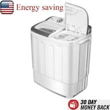 Mini Compact Portable Washing Machine Twin Tub Washer Dryer Energy Saving 8 lbs