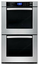 Cosmo 30  Double Wall Oven in Stainless Steel with True European Convection