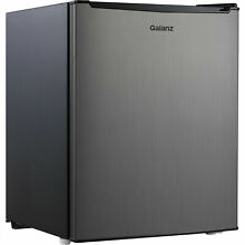 Galanz 2 7 Cu Ft Single Door Mini Fridge Freezer Compact Small Stainless Steel