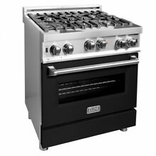 ZLINE 30  Professional Stainless Steel 4 0 cf  4 Gas On Gas Oven Range RG BLM 30