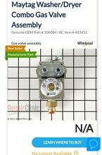 Washer Dryer Combo Gas Valve Assembly 306084