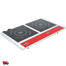 Induction Cooktop Double Dual 1800W Burner Electric Stove 2 Range Cooker Kitchen