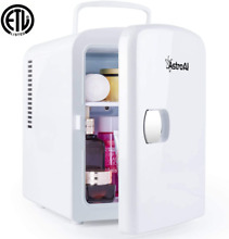 AstroAI Mini Fridge 4 Liter 6 Can AC DC Portable Thermoelectric Cooler and Warme