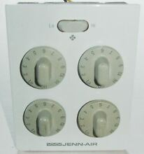 Jenn Air Cooktop Control Panel with Light Knobs and Switches