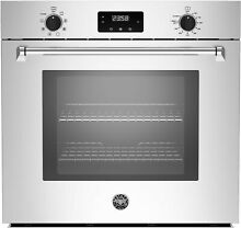 Bertazzoni 30in Single Electric Wall Oven with 4 1c f  capacity   MASFS30XV