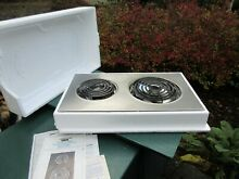 Jenn Air Electric Coil Cooktop AC110 Series with Instructions 2 Burner Stainless