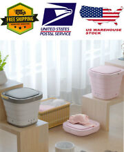 2 in 1 Portable Foldable Mini Wash Machine Washing and Spin Dryer for Home USA