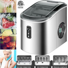 Portable Countertop Electric Ice Cube Maker Machine 26Lbs 24H Two Ice Size  S L