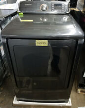Samsung 27  Energy Star Front Load Gas Dryer Black Stainless DVG52M7750V GAS123