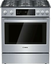 Bosch HGI8056UC 800 Series 30  Slide In Gas Range with Convection Oven
