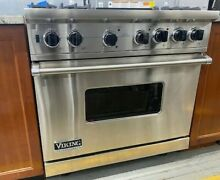 Viking Professional Custom Series VGSC5364GSS 36  Pro Style Gas Range