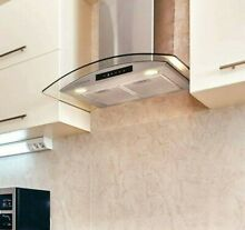 Kitchen Range Hood Vent 30 Glass Stainless Steel Over Stove Ductless Convertible