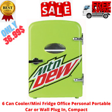 6 Can Cooler Mini Fridge Office Personal Portable Car or Wall Plug In  Compact