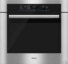 Miele H6180BP 30  Single Electric Wall Oven 4 6 cu  ft  Capacity  Convection