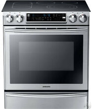 Samsung NE58F9710WS 30  Slide In Electric Range with FlexDuo Oven DualConvection