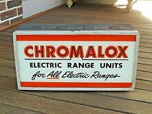 VINTAGE Chromalox Electric Range Units  For All Electric Ranges  Lighted Sign