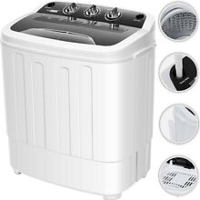 2 in 1 Portable 8lbs Mini Laundry Washer   5 5lbs Spin Dryer Combo w  Drain Hose